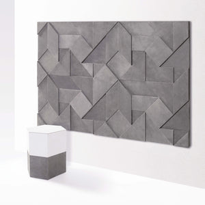 Origami 3D Wall Pattern & Headboard