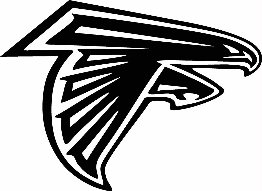 atlanta falcons logo vinyl cut out decal choose your color and size vinyl ink decals and. Black Bedroom Furniture Sets. Home Design Ideas