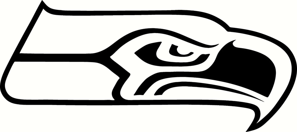 The gallery for seahawks logo black and white for Seattle seahawks coloring pages