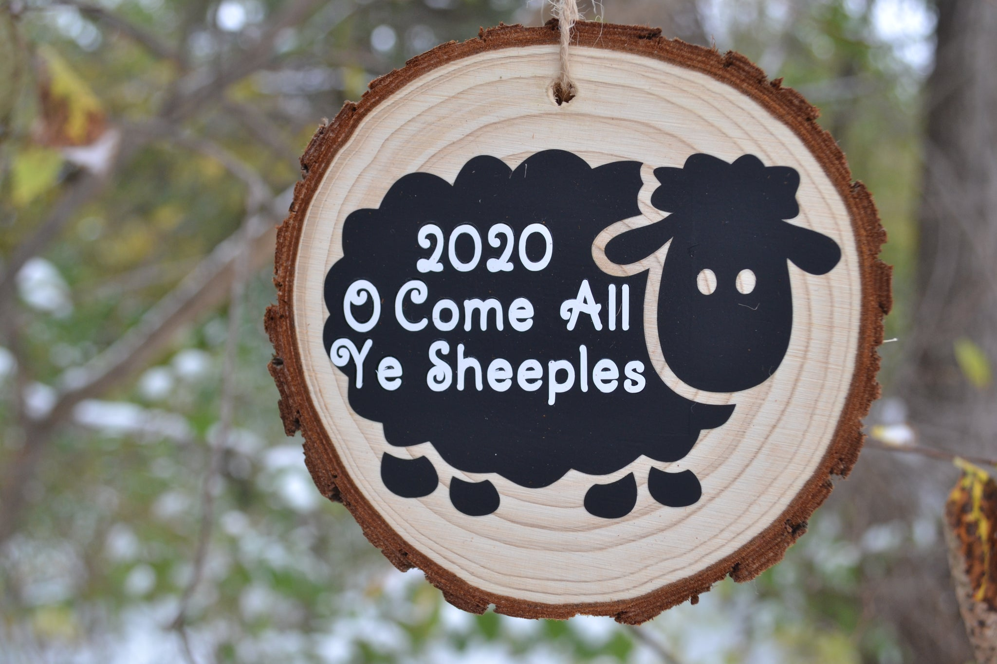 """2020 O Come All Ye Sheeples"""