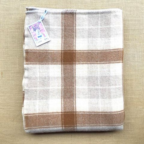 Oatmeal Naturals SINGLE Wool Blanket - Fresh Retro Love NZ Wool Blankets