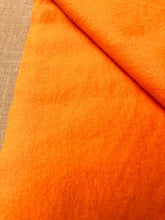 Load image into Gallery viewer, AS NEW Super Bold and Bright Orange SINGLE Satin Edge Wool Blanket