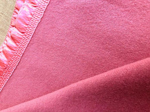Coral Pink Extra Large KING Australian Wool Onkaparinga Blanket. - Fresh Retro Love NZ Wool Blankets