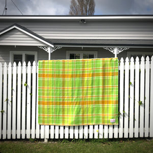 Winegum Collection: Fresh Citrus Love BRAND NEW Wool Blanket by Fresh Retro Love - Fresh Retro Love NZ Wool Blankets