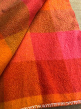 Load image into Gallery viewer, Rare Design Bright 1970's Onehunga Woollen Mills SINGLE Wool Blanket with Tiki Label