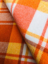 Load image into Gallery viewer, Thick and Bright Retro Orange Capri SINGLE Wool blanket - Fresh Retro Love NZ Wool Blankets