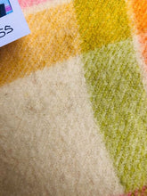 Load image into Gallery viewer, DREAMWARM with this Retro SINGLE/COT Blanket in lovely spring colours. - Fresh Retro Love NZ Wool Blankets