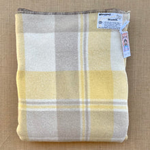 Load image into Gallery viewer, Taupe & Lemon Wanganui Woollen Mills SINGLE New Zealand Wool Blanket
