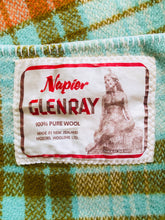 Load image into Gallery viewer, Retro Glenray SINGLE with oversize Napier Pania of the Reef label - Fresh Retro Love NZ Wool Blankets