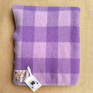 Warm Violet SINGLE Pure Wool Blanket. Mosgiel Woollen Mills Original