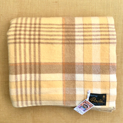 Super Thick Warm Browns DOUBLE Wool Blanket - Onehunga Woollen Mills - Fresh Retro Love NZ Wool Blankets