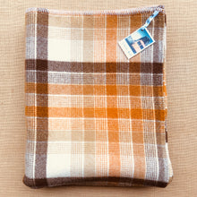 Load image into Gallery viewer, Poppa Styles Brown Check SINGLE Soft and Cosy - Fresh Retro Love NZ Wool Blankets