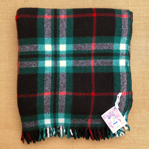 Classic Tartan TRAVEL RUG - 100% Wool ideal for the home office. - Fresh Retro Love NZ Wool Blankets