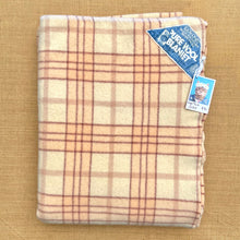Load image into Gallery viewer, Blush Pink & Cream Qualcraft SINGLE Pure Wool Blanket