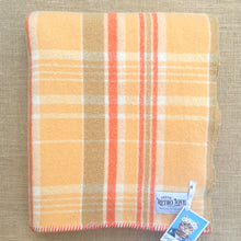 Load image into Gallery viewer, Melon & Tangerine SMALL SINGLE New Zealand Wool Blanket