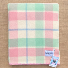 Load image into Gallery viewer, Soft Pink & Mint SINGLE New Zealand Wool Blanket