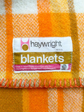 Load image into Gallery viewer, Cheerful Orange & Olive SINGLE New Zealand Wool Blanket