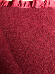 Thick & Soft Brick Red SINGLE Blanket with Satin Trim Dromorne - Fresh Retro Love NZ Wool Blankets