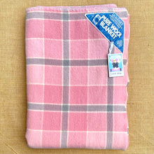 Load image into Gallery viewer, Lipstick Pink and Cool Grey SINGLE New Zealand Wool Blanket