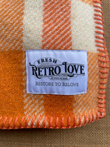 Mandarin Orange SINGLE NZ Wool blanket  - Galaxie!