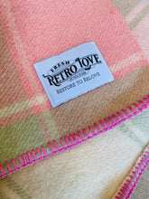 Load image into Gallery viewer, Pastel Mint & Pink KING SINGLE Wool Blanket - Kaiapoi Woollen Mills