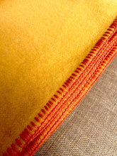 Load image into Gallery viewer, Golden Sunshine SINGLE Bright Retro New Zealand Wool Blanket