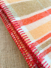 Load image into Gallery viewer, Melon & Tangerine SINGLE New Zealand Wool Blanket