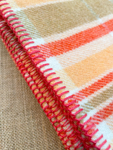 Melon & Tangerine SINGLE New Zealand Wool Blanket