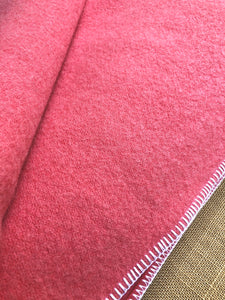 Warm Pink Thick DOUBLE Wool Blanket - Robinwul