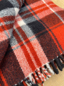 Thick and Soft Brick Red TRAVEL RUG - New Zealand Wool Blanket