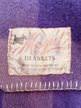 Load image into Gallery viewer, Warm Violet SINGLE Pure Wool Blanket. Mosgiel Woollen Mills Original