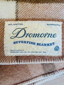 Thick Brown New Zealand Wool SINGLE Blanket, Dromorne