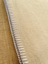 Load image into Gallery viewer, Natural Tan THROW/KNEE/WRAP New Zealand Wool Blanket