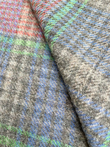 Gentlemanly KNEE/OFFICE/PRAM blanket in cool grey check colours