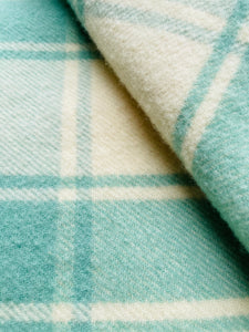 Soft Lily Pad Mint SINGLE Pure New Zealand Wool Blanket.