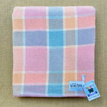 Load image into Gallery viewer, Lightweight SINGLE in pretty candy sorbet colours NZ Wool Blanket
