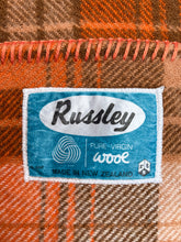 Load image into Gallery viewer, Fantastic Retro Browns & Orange KING Pure New Zealand Wool Blanket.