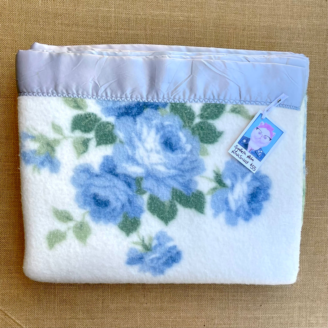 BARGAIN SPECIAL!  KING SINGLE 1960's Blanket Pretty Retro (Synthetic)