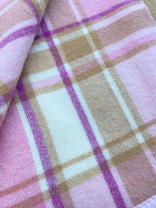 Thick & Soft Pastel Oversize SINGLE Pure New Zealand Wool Blanket