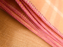 Load image into Gallery viewer, Beautiful Peach and Pink SINGLE Pure Wool Blanket.