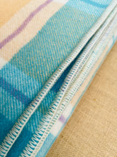 Load image into Gallery viewer, Mermaid Colours DOUBLE/QUEEN Pure Wool Blanket.