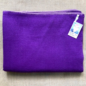 Intense Purple KING SINGLE New Zealand Wool Blanket - Fresh Retro Love NZ Wool Blankets