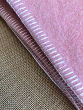 Load image into Gallery viewer, Classic SINGLE  Wool Blanket - Thick Wool with Pink Edge & Patch Repair - Fresh Retro Love NZ Wool Blankets