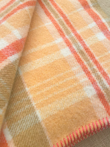 Melon & Tangerine SMALL SINGLE New Zealand Wool Blanket