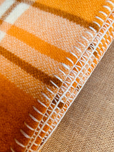 Load image into Gallery viewer, Golden Orange and Yellow SINGLE Bright Retro New Zealand Wool Blanket