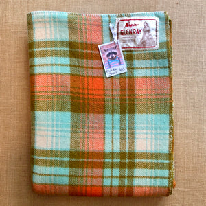Retro Glenray SINGLE with oversize Napier Pania of the Reef label - Fresh Retro Love NZ Wool Blankets