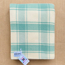 Load image into Gallery viewer, Soft Lily Pad Mint SINGLE Pure New Zealand Wool Blanket.