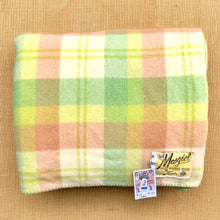 Load image into Gallery viewer, Bright Apple Green DOUBLE Wool Blanket - Mosgiel! - Fresh Retro Love NZ Wool Blankets