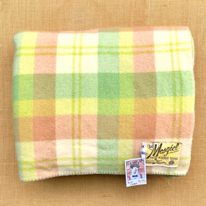 Bright Apple Green DOUBLE Wool Blanket - Mosgiel! - Fresh Retro Love NZ Wool Blankets