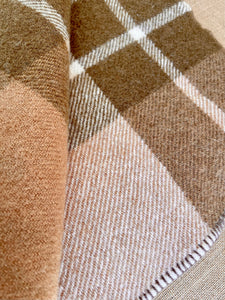Thick Brown New Zealand Wool SINGLE Blanket